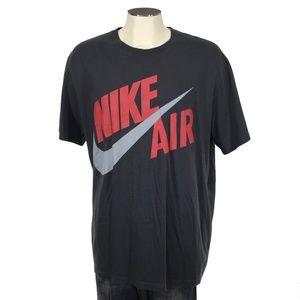 Nike Air T Shirt Regular Fit Gray Check Mens